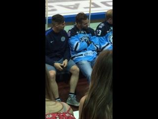 Встреча с хоккеистами ХК Сибирь