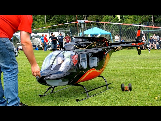 GIGANTIC RC BELL 206 JETRANGER SCALE MODEL TURBINE HELICOPTER
