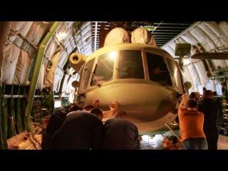 Переброска самолётом ВТА ВКС вертолётов Ми-8АМТШ в Таджикистан в рамках учения «Поиск-2016»