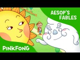 Kids' English  The Sun and the Wind  Aesop's Fables  PINKFONG Story Time for Children