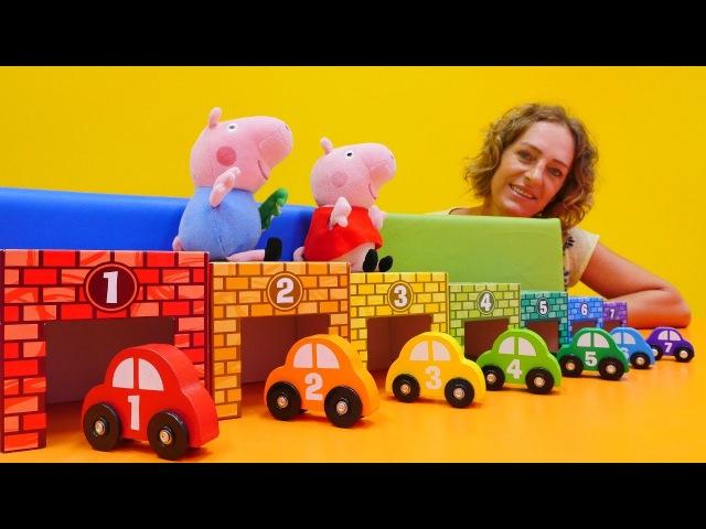 Zahlen und Farben lernen mit Peppa und Schorsch 🚗 🐽 Peppa Wutz Videos 🐷 Peppa Wutz auf Deutsch