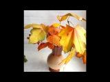 Листья. Осень. Лист калины из фоамирана