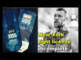 Conor McGregor UFC 205 New York fight license incomplete Nick Diaz's halloween party Cris Cyborg