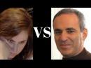 Exciting chess game: Kasparov's Sicilian Sveshnikov not too shabby (black) vs Judit Polgar (2002),