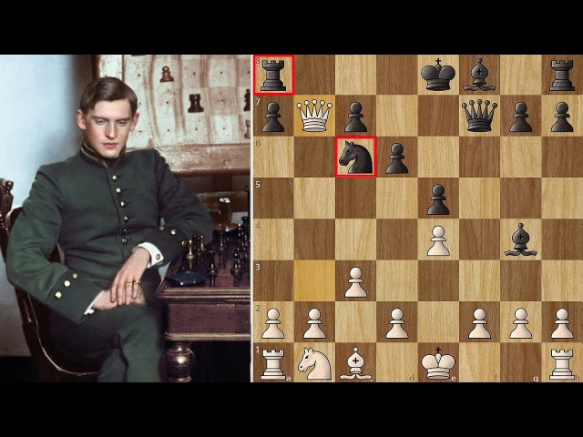 Alekhine's King Traps the Queen