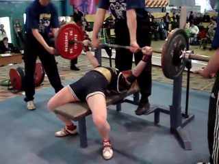 Инна Филимонова - жим лежа 120 кг (55,9 кг)