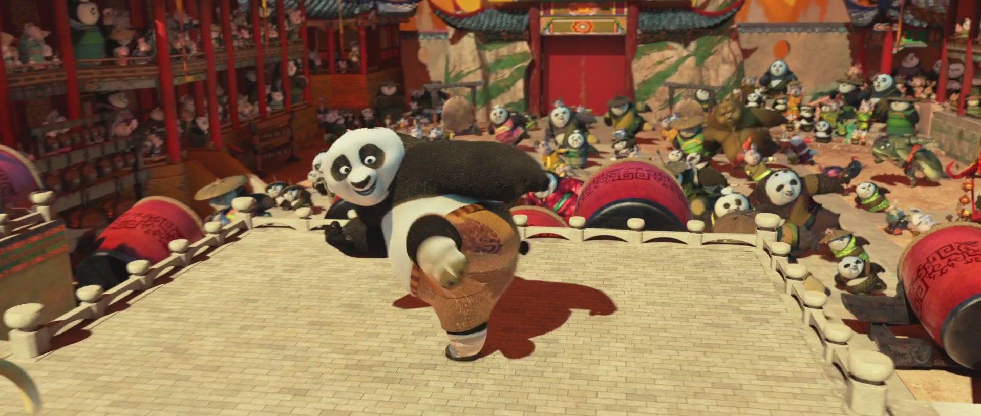 кунг-фу панда на одной лапе