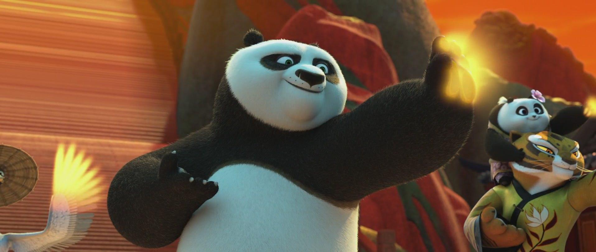 панда кунг-фу показывает силу цинь