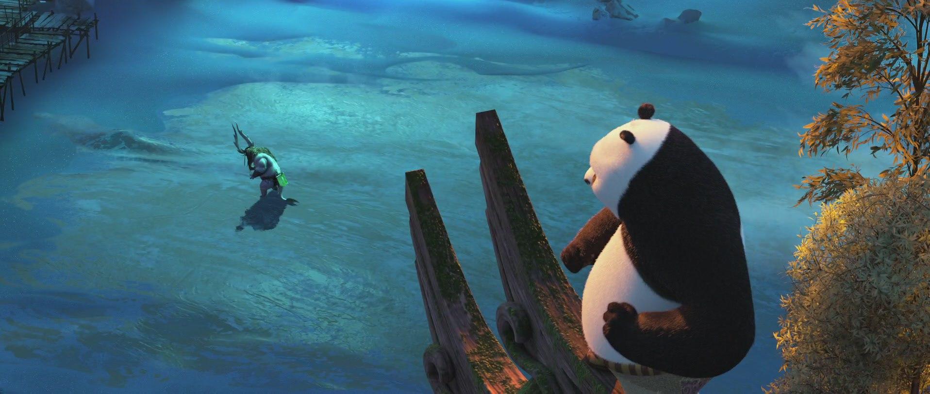 панда кунг-фу готовится к атаке