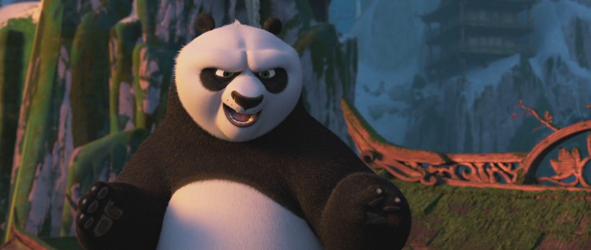 панда кунг-фу отжигает