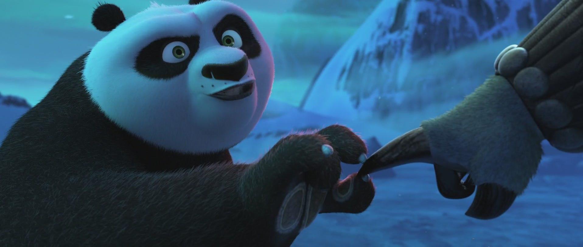 кунг-фу панда наносит секретный прием