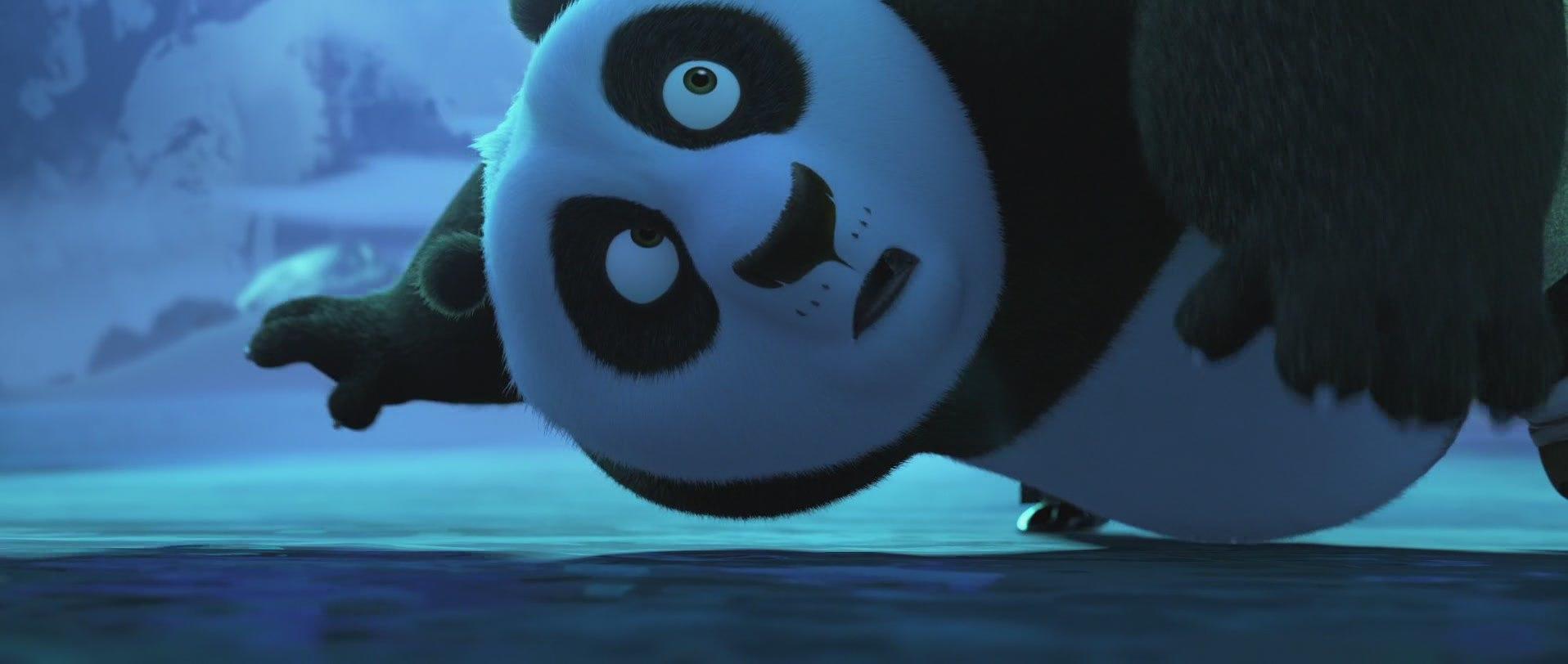 панда кунг-фу удивлена
