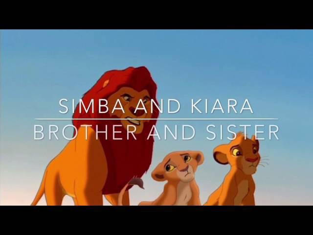 -Simba and Kiara-Brother and sister-