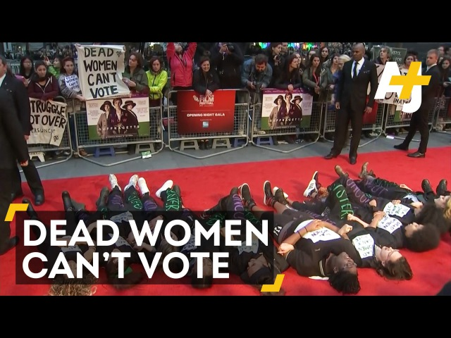 Suffragette Premiere Protesters Hold A 'Die-In''