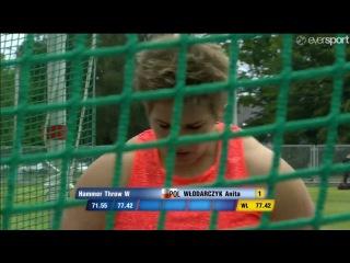WŁODARCZYK Anita 78.54 WL MR Hammer Throw - Ostrava Golden Spike 2016