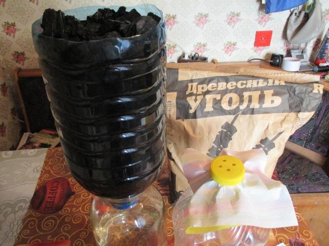 Очистка самогона при помощи угольной колонны. Как сделать просто и качественно. Олег Карп