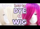 HOW TO DYE A SYNTHETIC WIG Alexa's Wig Series 7
