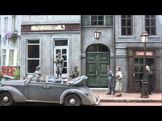 WW2 1/35 scale diorama. Opel Admiral at the Hotel