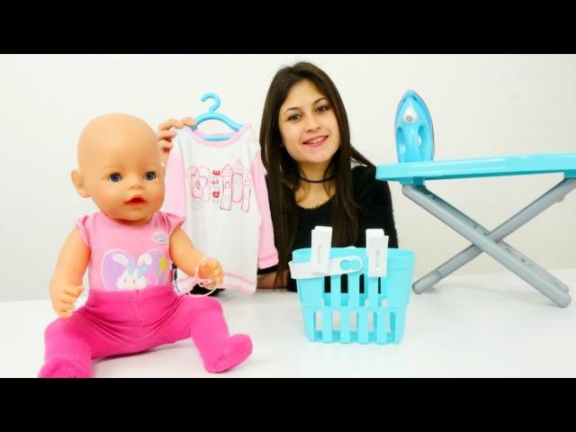 Ayşe Gül'ün kıyafetini yıkayıp ütülü bebek bakımı👶 Kızoyunları ve oyuncakları