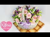 (https://vk.com/lakomkavk) How to make a Basket of Flowers Cake