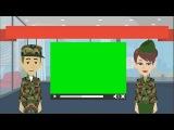 #Футаж #военные, #военнослужащие мужчина и женщина на хромакее. Футаж для #видео_монтажа.