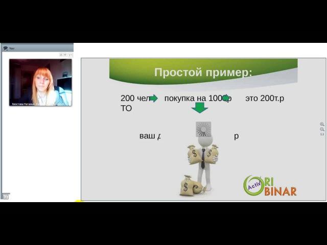 Коммерческое предложение интернет проекта Орибинар Хвостова Наталья