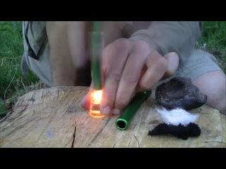 Transparent Fire Piston - Explosive Flash