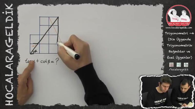 Trigonometri -4 (Dik Üçgende Trigonometrik Bağıntılar ve Özel Üçgenler) - HG