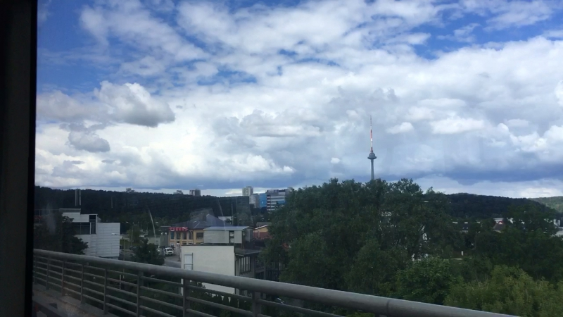 Į televizijos bokštą Vilniuje