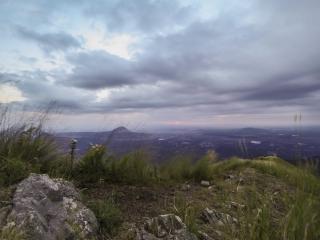 Рассвет с вершины горы Бештау