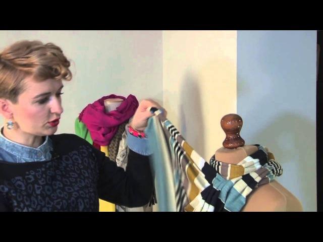 GOShA przedstawia 6 sposobów jak wiązać chustę / szal.