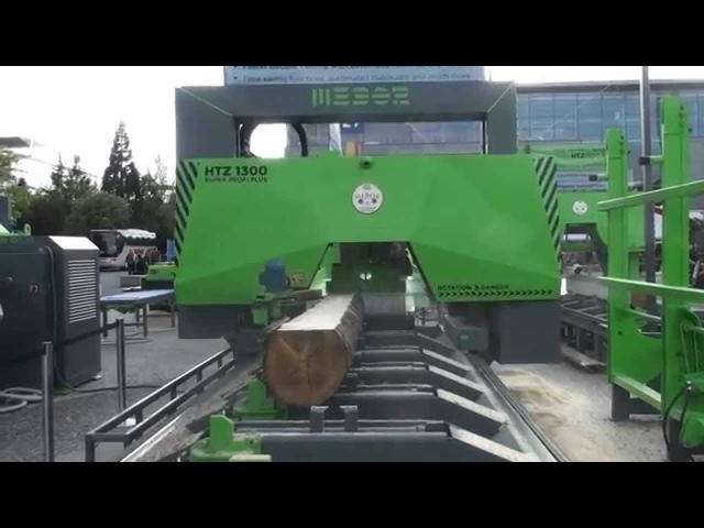 MEBOR'S New, Fastest BAND SAW for logs HTZ 1300 PLUS, Single DOUBLE cutting