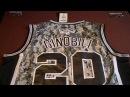 Баскетбольная форма NBA клуб San Antonio Spurs Emanuel Ginóbili № 20 камуфляж магазин BASKET FAMILY