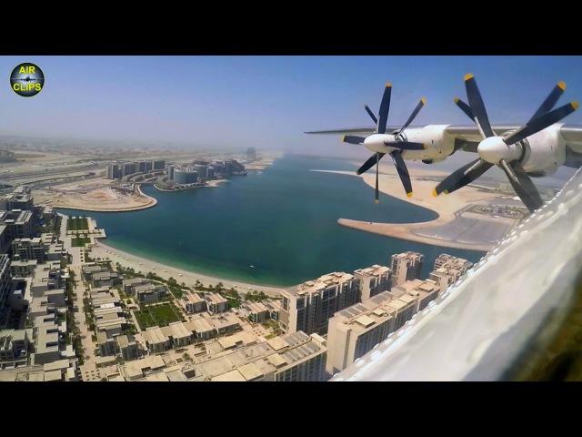 IMMACULATE Antonov 22 Antei Abu Dhabi Landing with PARADISE Views AirClips