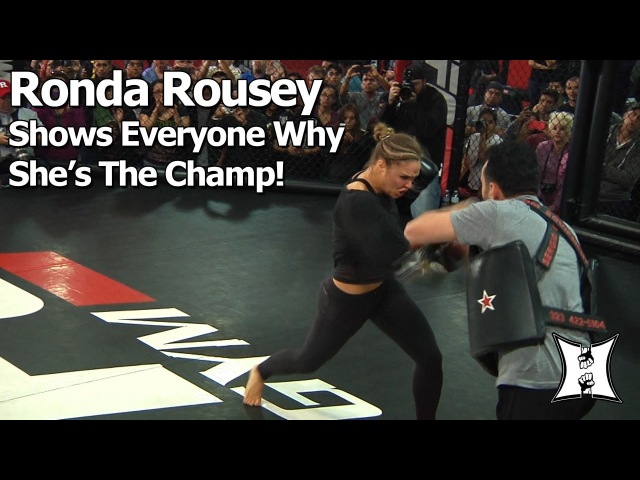 UFC 184: Champ Ronda Rousey 25min Workout Before Title Fight With Cat Zingano (Complete/Unedited)