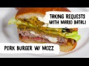 Mario Batali Cooks Mozzarella-Stuffed Pork Burgers w/ Acorn Squash Mustard