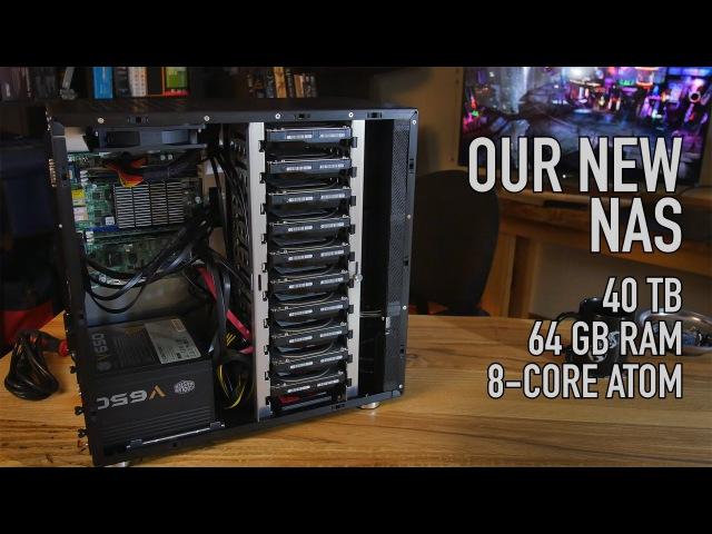 Our New NAS 40 TB, 64 GB ECC RAM, SSD Caching, 10 Bay Case