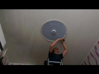 Монтаж люстры на натяжной потолок без закладной