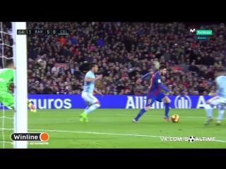 Барселона - Сельта 5:0. Лионель Месси (дубль)