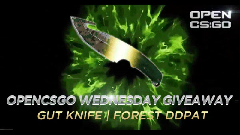 OPENCSGOCOM Wednesday GIVEAWAY 3 Knife Forest DDPAT