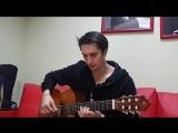 урок №2 как научиться играть на гитаре ! северный ветер перебор 8 - ка