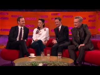 James McAvoy and Michael Fassbender Create Sexy Fan Art - The Graham Norton Show