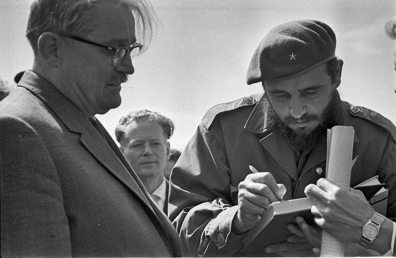 Киев, май 1963 года. Визит Фиделя Кастро. Фото: Ирина Пап