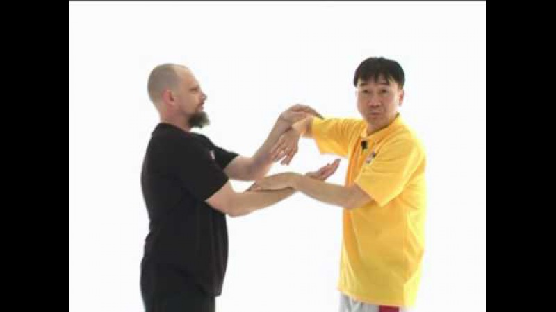 Leung Sheung Wing Chun Jum Sau changing into Fook Sau - Last Video from DVD by Sifu Roland Kong
