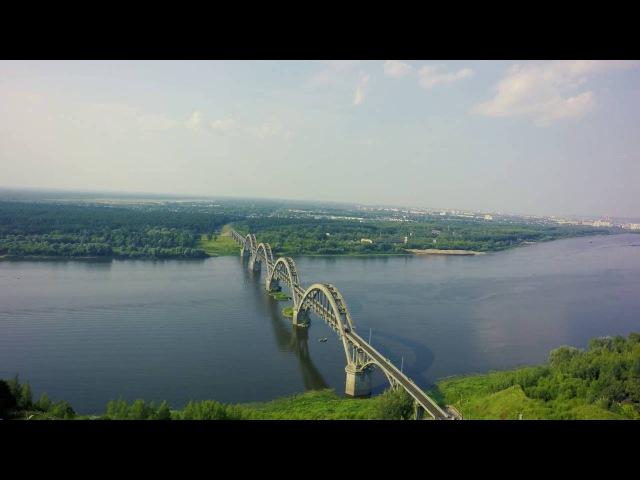 Полёт: Сартаковский железнодорожный мост и пруд в Ефимьево. Нижний Новгород