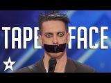 Tape Face Auditions &amp Performances America's Got Talent 2016 Finalist
