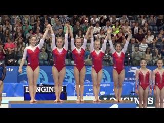 ЧЕ-2016. Женщины. Награждение команд