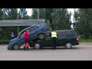 Сдергивание пятнашки после ДТП на ул. 22 партсъезда (01.08.2016)