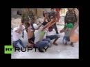 Боевики массово сдаются в плен. Алеппо Сирия المتشددين LIH يستسلم بشكل جماعي. حلب، &#15