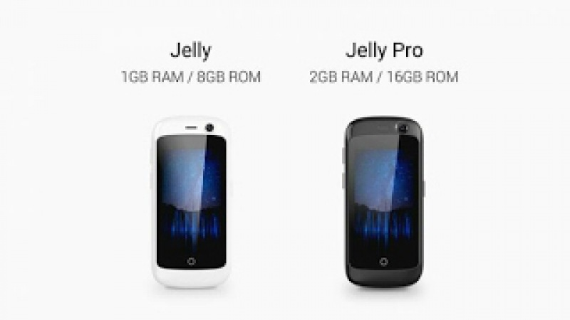 Jelly Pro , the World's Smallest 4G Smartphone 2GB RAM, Runs Android 7.0 Nougat 16GB ROM